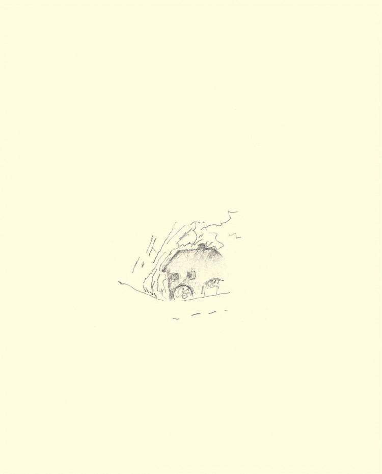 Reminiscence / Reminiscences / Reminiszenzen, 1984, grafit, papir / graphite, paper / Grafit, Papier, 50 x 40 cm