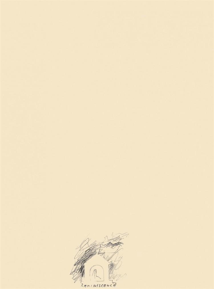 Reminiscence / Reminiscences, Reminiszenze, 1984, grafit, papir / graphite, paper / Grafit, Papier, 50 x 36 cm