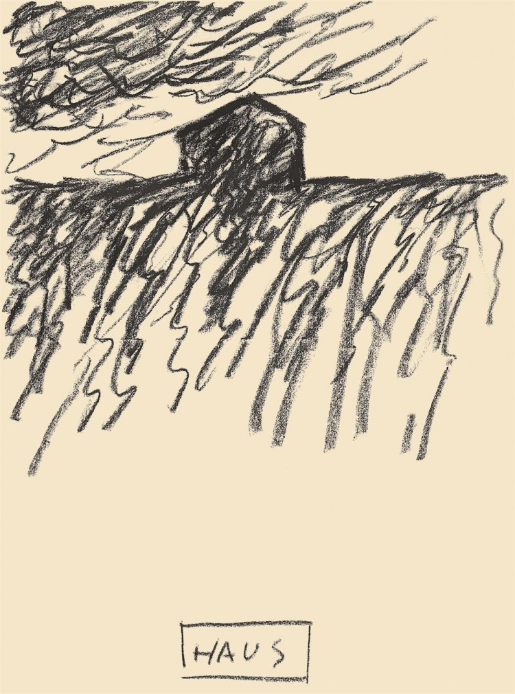 Reminiscence / Reminiscence / Reminiszenzen, 1984, oglje, papir / charcoal, paper / Kohle, Papier, 36 x 50 cm