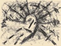Sonce moje / My Sun / Meine Sonne, 1985, oglje, papir / charcoal, paper / Kohle, Papier, 37 x 50 cm