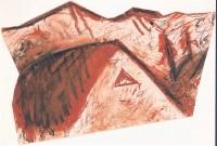 B.N., 1985, mešana tehnika, mixed media / gemischte Technik, 61,5 x 100 cm