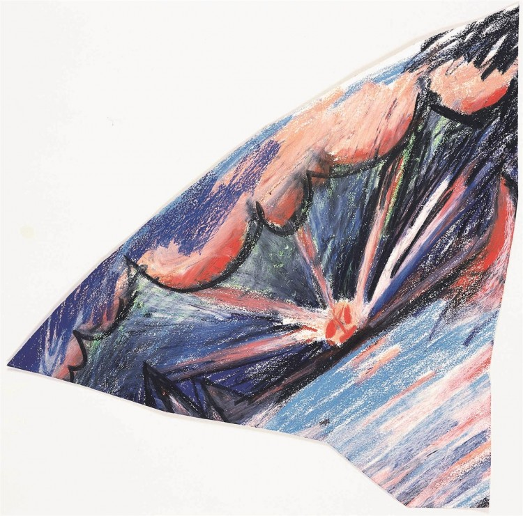 B.N., 1985, pastel, papir / pastel, paper / Pastell, Papier, 45 x 66 cm