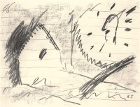 B.N., 1985, oglje, papir / charcoal, paper / Kohle, Papier, 50 x 65 cm