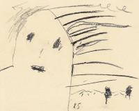 Konec / The End / Das Ende, 1985, prešano oglje, papir / pressed charcoal, paper / gepresste Kohle, Papier, 40 x 49 cm