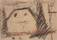 Reminiscence / Reminiscences / Reminiszenzen, 1986, mešana tehnika, papir / mixed media, paper / gemischte Technik, Papier, 50 x 70 cm