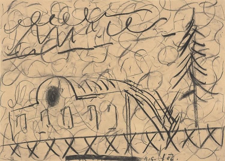 B.N., 1985, pastel, papir / pastel, paper / Pastell, Papier, 60 x 43 cm