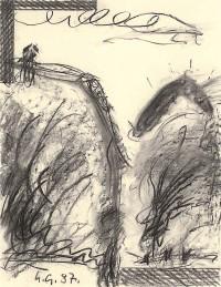 Reminiscence / Reminiscences, Reminiszenze, 1987, grafit, papir / graphite, paper / Grafit, Papier, 65 x 50 cm