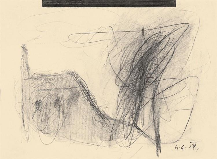 B.N., 1989, grafit, papir / graphite, paper / Grafit, Papier, 32 x 44 cm