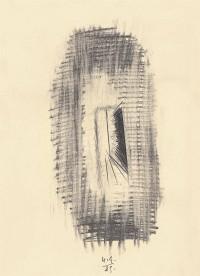B.N., 1989, grafit, papir / graphite, paper / Grafit, Papier, 44 x 32 cm
