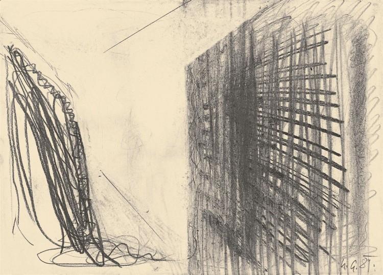 B.N., 1989, grafit, papir / graphite, paper / Grafit, Papier, 32 x 44,4 cm