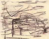 Krajina / Landscape / Landschaft, 1992, kreda, papir /chalk, paper, Kreide, Papier, 40 x 50 cm