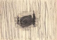 B.N., 1992, oglje, papir / charcoal, paper / Kohle, Papier, 49,5 x 70 cm
