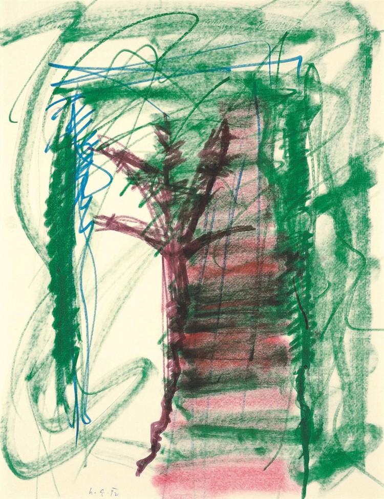 B.N., 1992, flomaster, papir / felt-tips, paper / Filzstifte, Papier, 65 x 50,5 cm