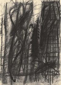 B.N., 1992, oglje, papir / charcoal, paper / Kohle, Papier, 59 x 42,5 cm