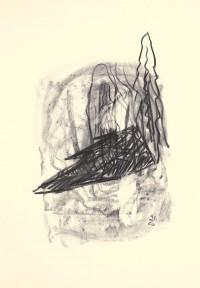 D.S.M.O., 1993, oglje, papir / charcoal, paper / Kohle, Papier, 75,5 x 52,5 cm