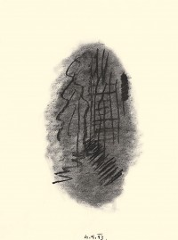 Elegija / Elegy / Elegie, 1993, oglje, papir / charcoal, paper / Kohle, Papier, 67,5 x 50,5 cm
