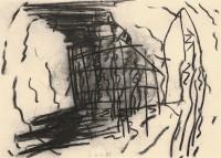 D.S.M.O., 1993, oglje, papir / charcoal, paper / Kohle, Papier, 43 x 59 cm