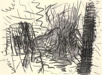 B.N., 1993, oglje, papir / charcoal, paper / Kohle, Papier, 41,5 x 56,5 cm
