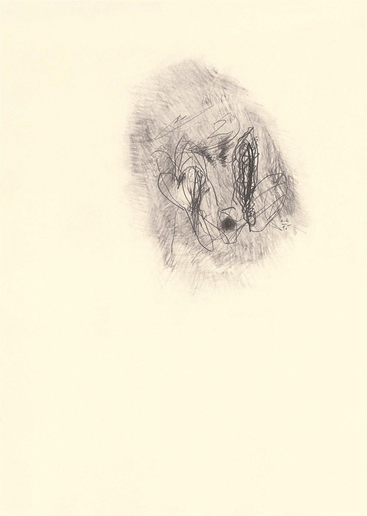 A.L.V.N., 1995, grafit, papir / graphite, paper / Grafit, Papier, 41,5 x 30 cm