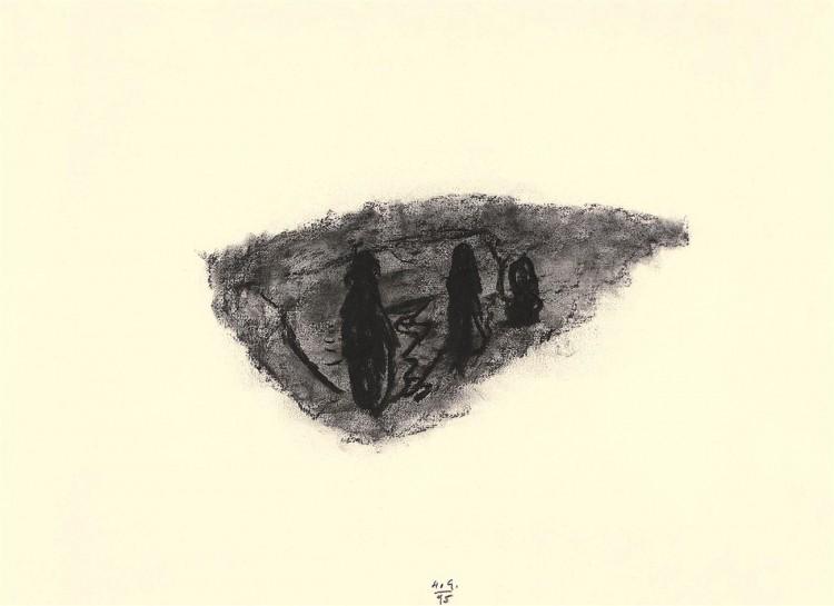 A.L.V.N., 1995, oglje, papir / charcoal, paper / Kohle, Papier, 42,5 x 59 cm