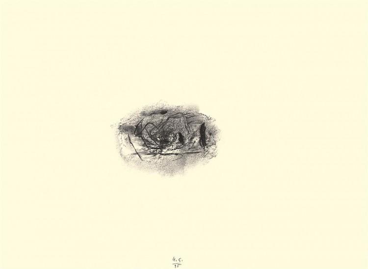 D.S.M.O., 1995, oglje, papir / charcoal, paper / Kohle, Papier, 43 x 59 cm
