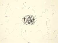 A.L.V.N., 1995, oglje, papir / charcoal, paper / Kohle, Papier, 55 x 74 cm