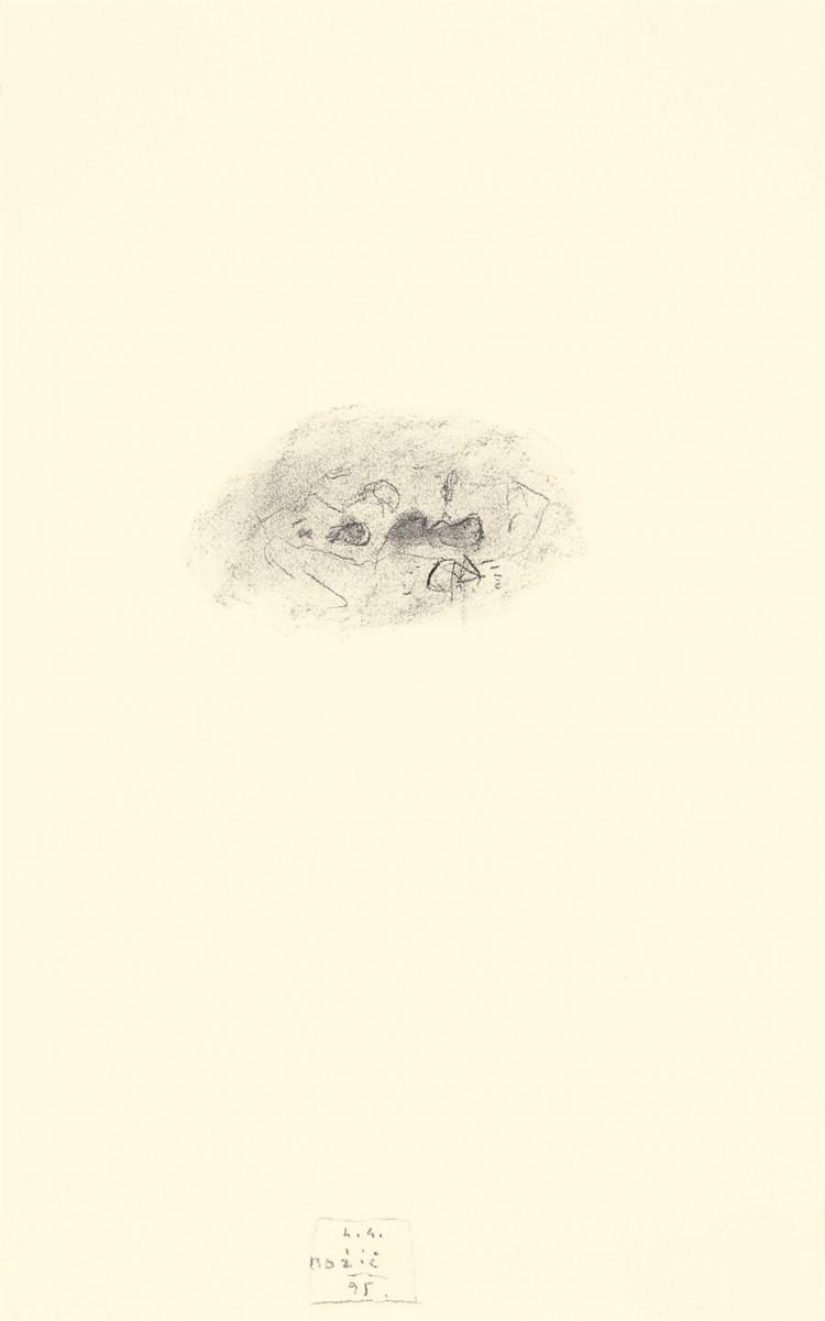 A.L.V.N., 1995, oglje, papir / charcoal, paper / Kohle, Papier, 58 x 37 cm