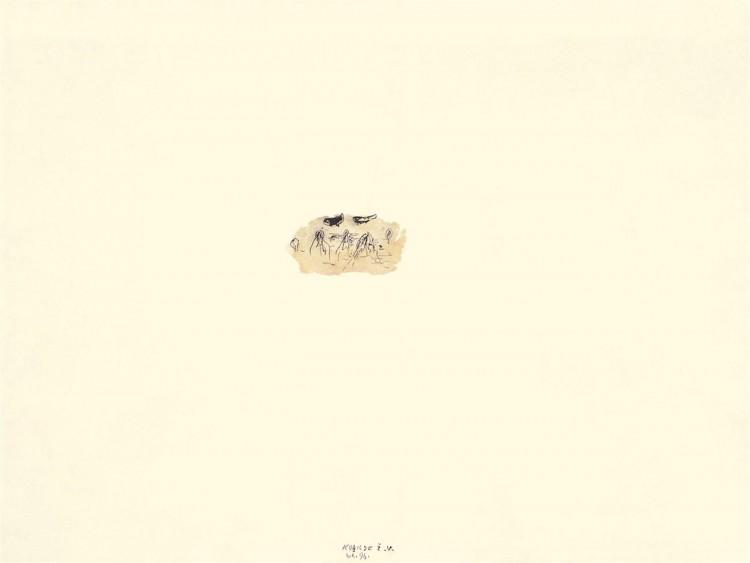 Kobilje, 1996, akvarel / watercolour / Aquarell, 50 x 67,5 cm