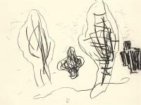 Nostalgije / Nostalgias / Nostalgien, 1996, oglje, papir / charcoal, paper / Kohle, Papier, 37 x 50 cm