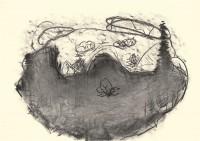 Nostalgije / Nostalgias / Nostalgien, 1996, oglje, papir / charcoal, paper / Kohle, Papier, 52 x 75 cm