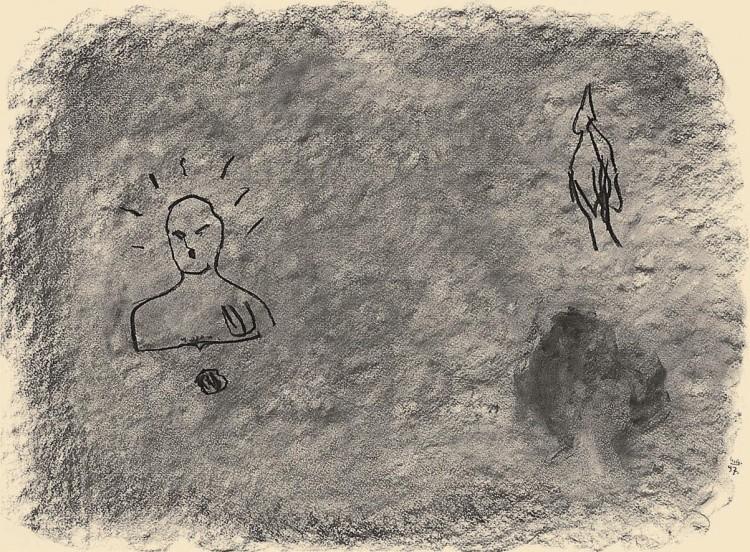 Nostalgije / Nostalgias / Nostalgien, 1997, oglje, papir / charcoal, paper / Kohle, Papier, 56 x 76 cm