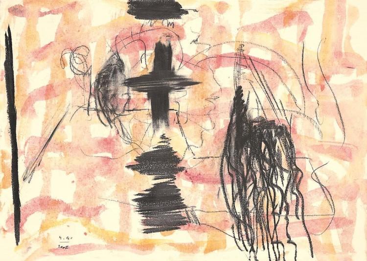 B.N., 2002, mešana tehnika, papir / mixed media, paper / gemischte Technik, Papier, 43 x 60 cm