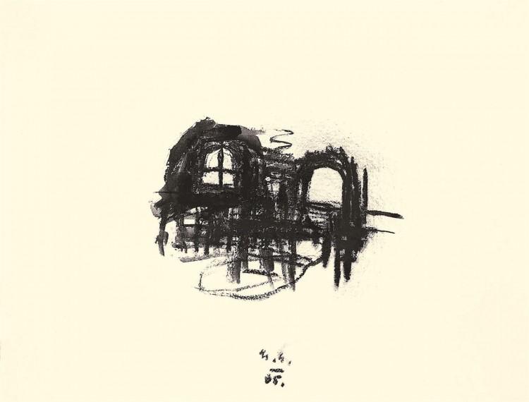B. N., 2005, oglje, papir / charcoal, paper / Kohle, Papier, 38 x 50 cm