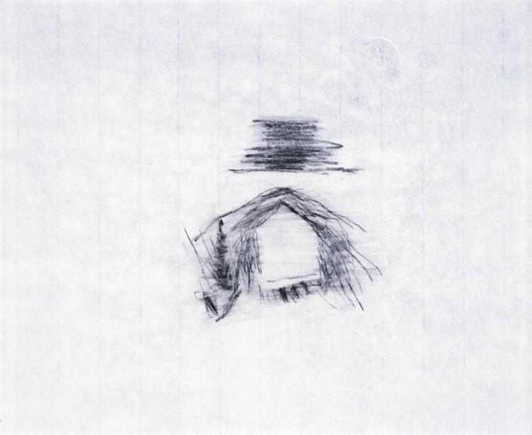 SIGUR ROS; 2009; grafit, papir / graphite, paper / Grafit, Papier; 40 x 48 cm