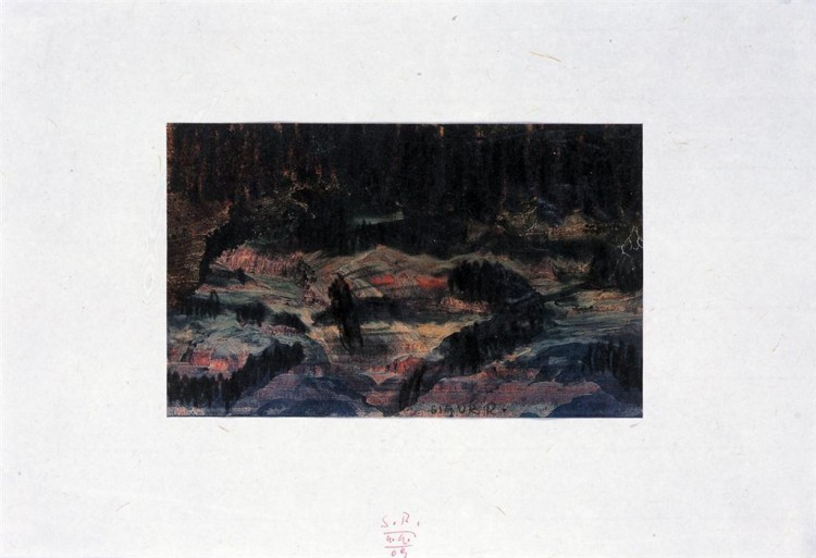 SIGUR ROS; 2009; ofset, grafit, papir / offset, graphite, paper / Offset, Grafit, Papier; 48 x 40 cm
