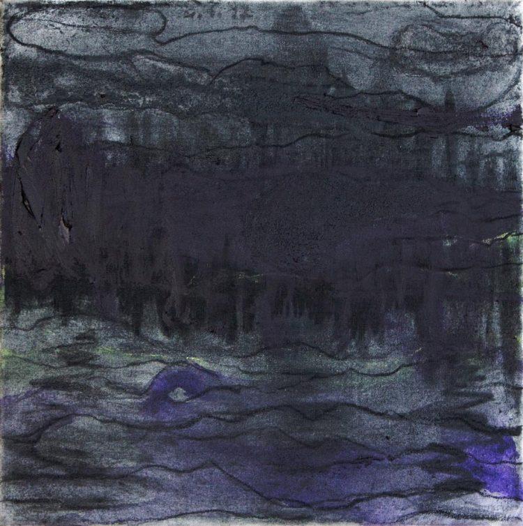 Atomos, 2017, mešana tehnika, platno / mixed media, canvas, 30 x 30 cm