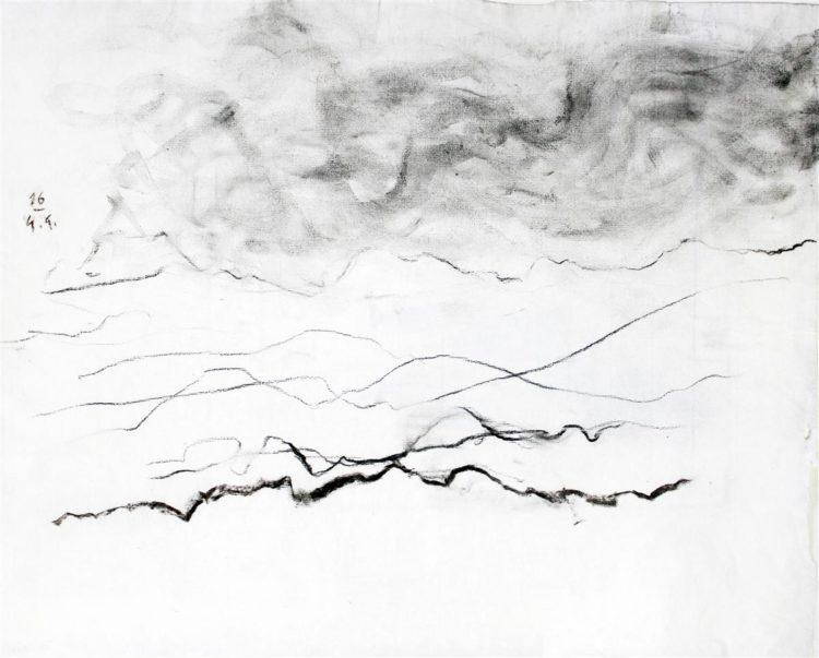 B.N., oglje na papir, 40x49cm, 2016